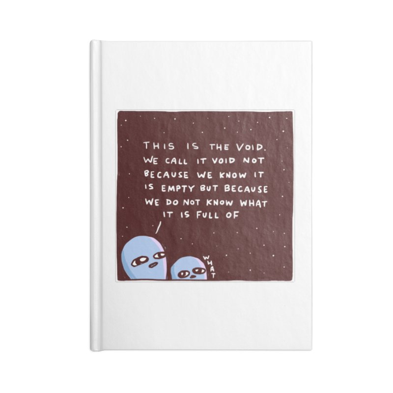 STRANGE PLANET SPECIAL PRODUCT: THE VOID Accessories Lined Journal Notebook by Nathan W Pyle