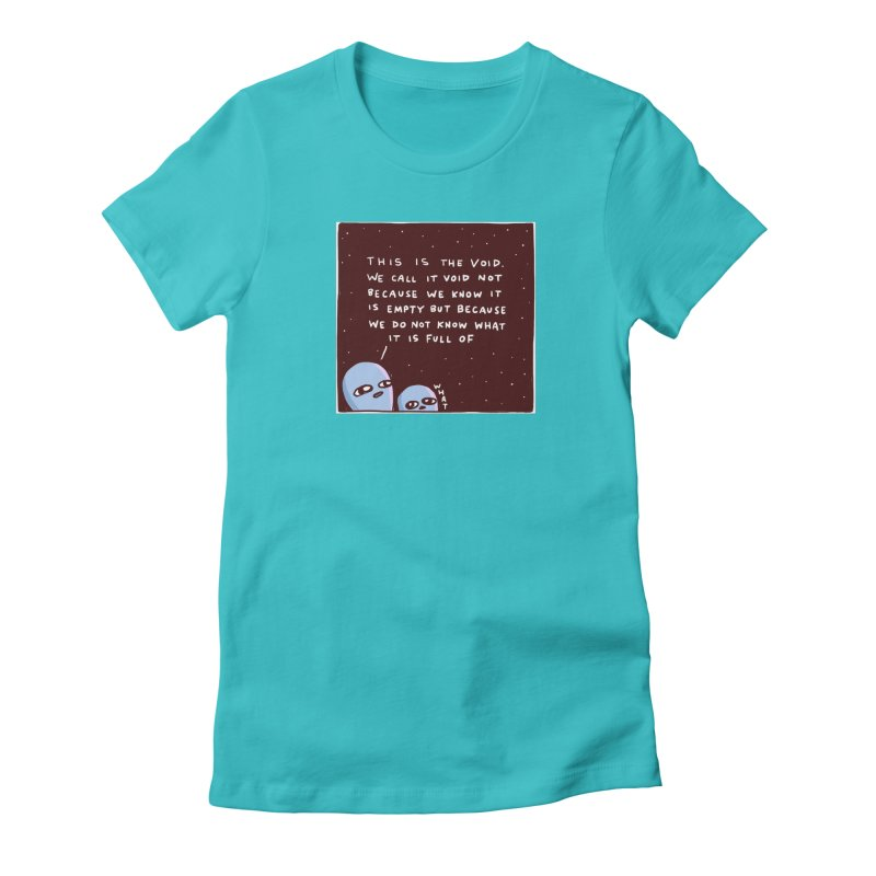 STRANGE PLANET SPECIAL PRODUCT: THE VOID Women's Fitted T-Shirt by Nathan W Pyle