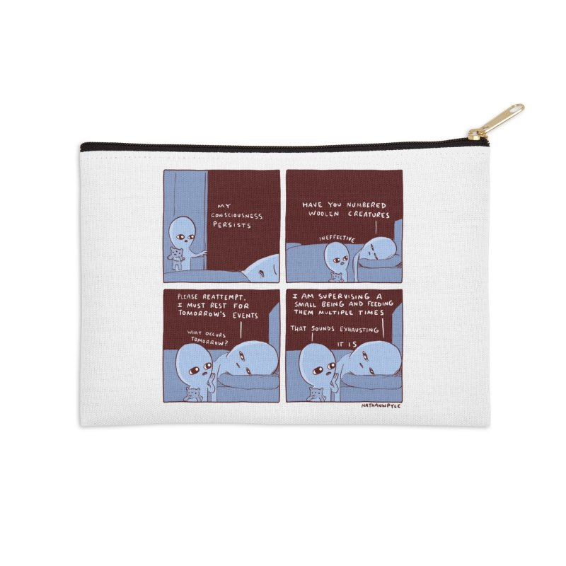 STRANGE PLANET: MY CONSCIOUSNESS PERSISTS Accessories Zip Pouch by Nathan W Pyle