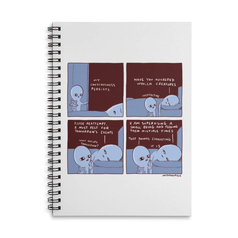 STRANGE PLANET: MY CONSCIOUSNESS PERSISTS Accessories Lined Spiral Notebook by Nathan W Pyle