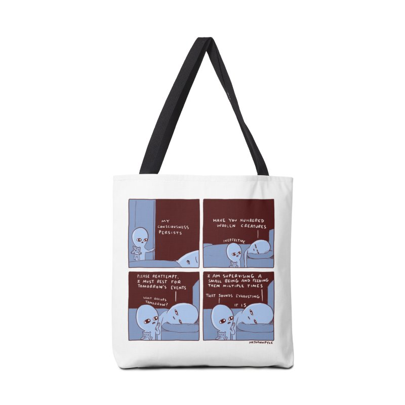 STRANGE PLANET: MY CONSCIOUSNESS PERSISTS Accessories Tote Bag Bag by Nathan W Pyle