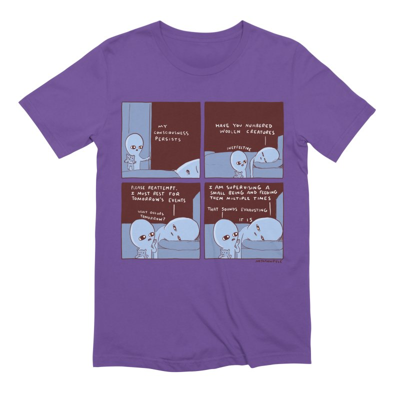 STRANGE PLANET: MY CONSCIOUSNESS PERSISTS Men's Extra Soft T-Shirt by Nathan W Pyle