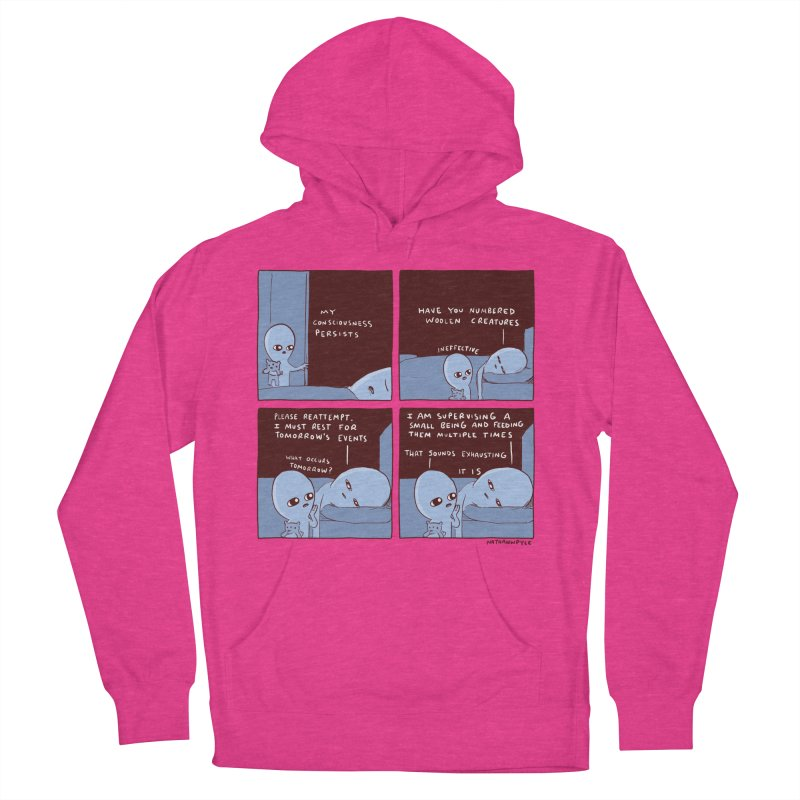 STRANGE PLANET: MY CONSCIOUSNESS PERSISTS Men's French Terry Pullover Hoody by Nathan W Pyle