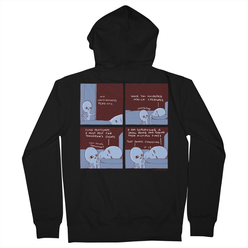 STRANGE PLANET: MY CONSCIOUSNESS PERSISTS Women's French Terry Zip-Up Hoody by Nathan W Pyle