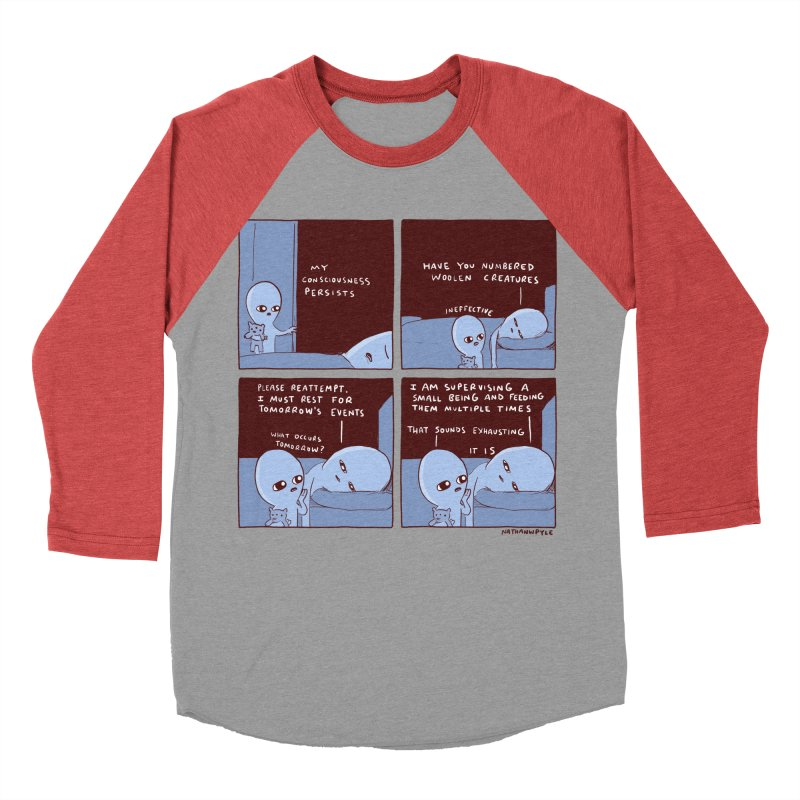 STRANGE PLANET: MY CONSCIOUSNESS PERSISTS Women's Baseball Triblend Longsleeve T-Shirt by Nathan W Pyle
