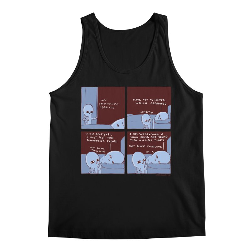 STRANGE PLANET: MY CONSCIOUSNESS PERSISTS Men's Regular Tank by Nathan W Pyle