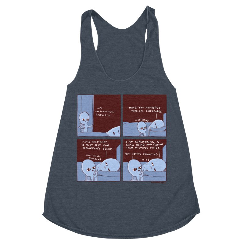 STRANGE PLANET: MY CONSCIOUSNESS PERSISTS Women's Racerback Triblend Tank by Nathan W Pyle