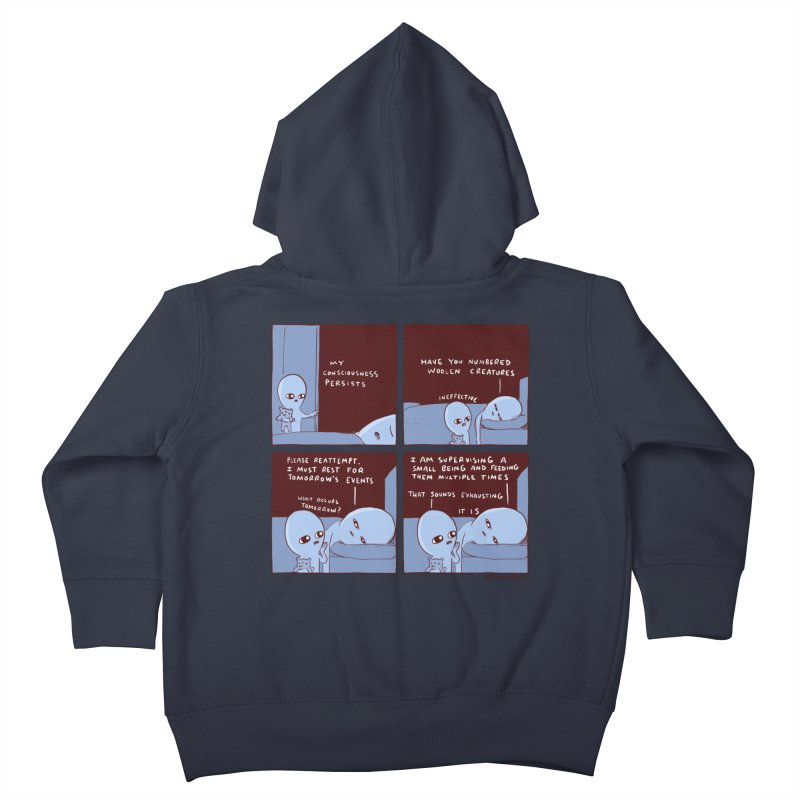STRANGE PLANET: MY CONSCIOUSNESS PERSISTS Kids Toddler Zip-Up Hoody by Nathan W Pyle