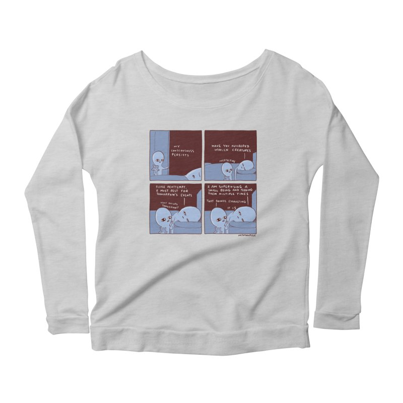 STRANGE PLANET: MY CONSCIOUSNESS PERSISTS Women's Scoop Neck Longsleeve T-Shirt by Nathan W Pyle