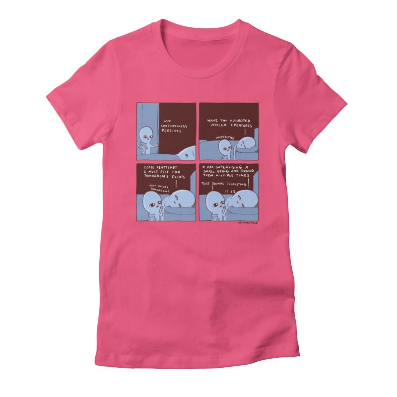 STRANGE PLANET: MY CONSCIOUSNESS PERSISTS Women's Fitted T-Shirt by Nathan W Pyle