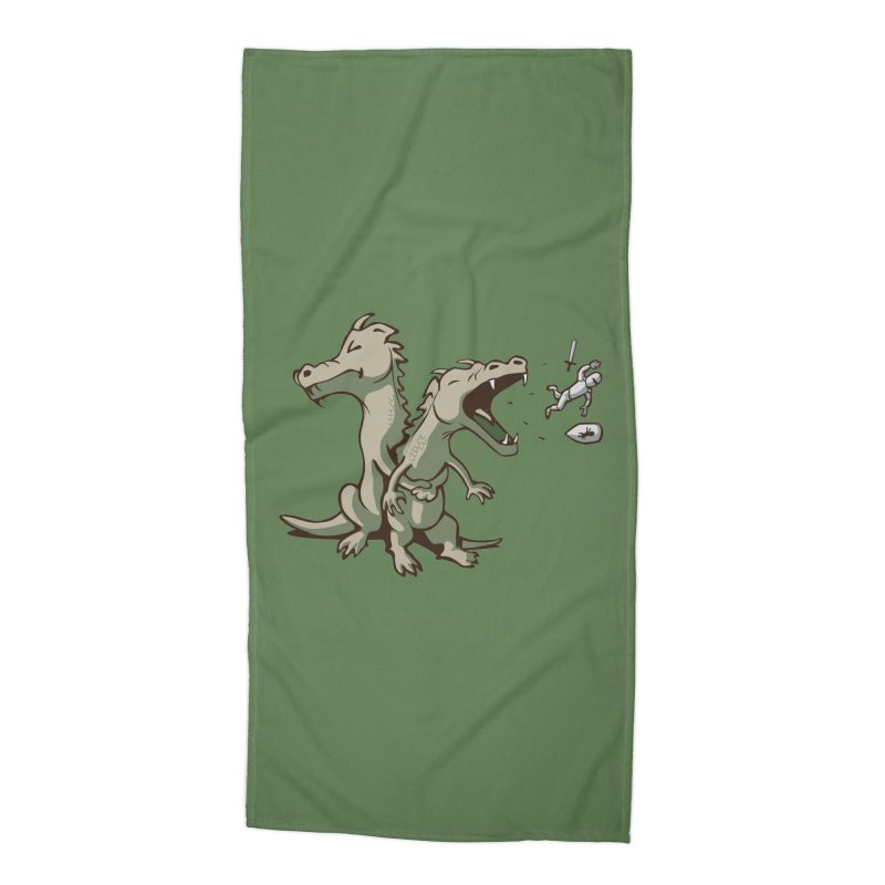 Brave Sir Heimlich Accessories Beach Towel by nathanwpyle's Artist Shop