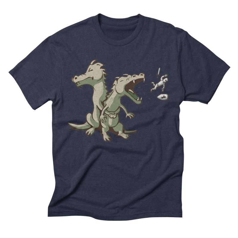 Brave Sir Heimlich Men's Triblend T-shirt by nathanwpyle's Artist Shop