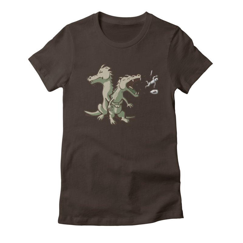 Brave Sir Heimlich Women's Fitted T-Shirt by nathanwpyle's Artist Shop