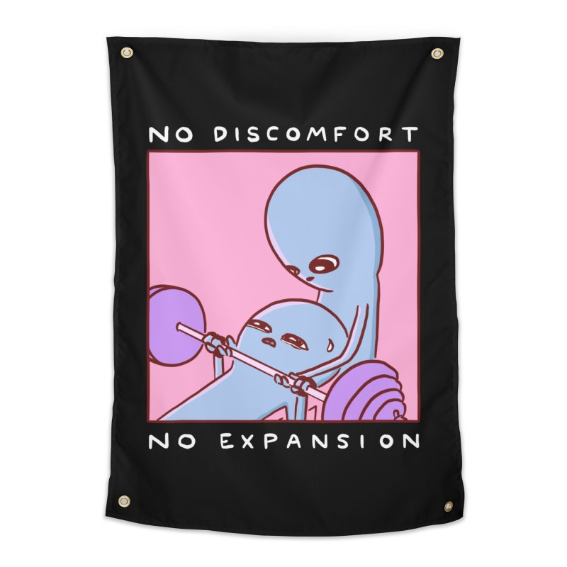 STRANGE PLANET SPECIAL PRODUCT: NO DISCOMFORT NO EXPANSION Home Tapestry by Nathan W Pyle Shop | Strange Planet Store | Thread