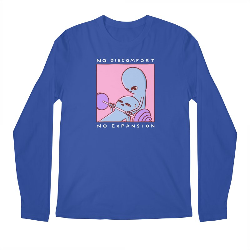 STRANGE PLANET SPECIAL PRODUCT: NO DISCOMFORT NO EXPANSION Men's Regular Longsleeve T-Shirt by Nathan W Pyle