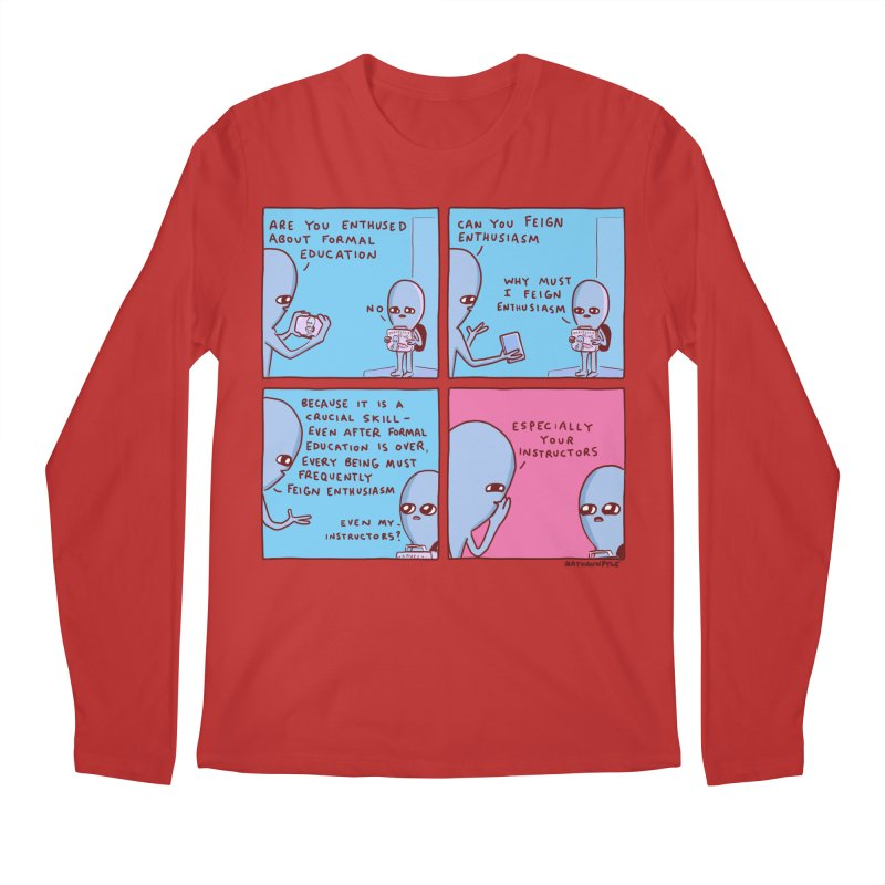 STRANGE PLANET: ESPECIALLY YOUR INSTRUCTORS Men's Regular Longsleeve T-Shirt by Nathan W Pyle
