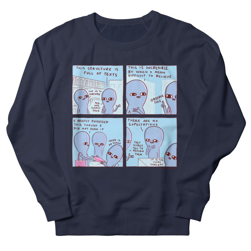 STRANGE PLANET: STRUCTURE FULL OF TEXTS / THERE IS NO SHAME Men's French Terry Sweatshirt by Nathan W Pyle