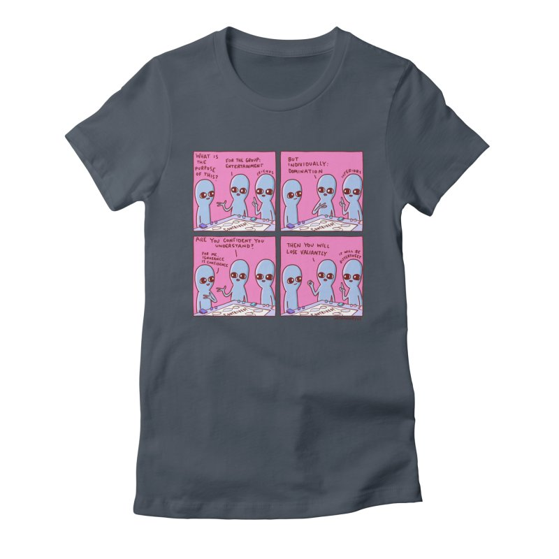 STRANGE PLANET: FOR ME IGNORANCE IS CONFIDENCE / CONTRIVED! Women's T-Shirt by Nathan W Pyle