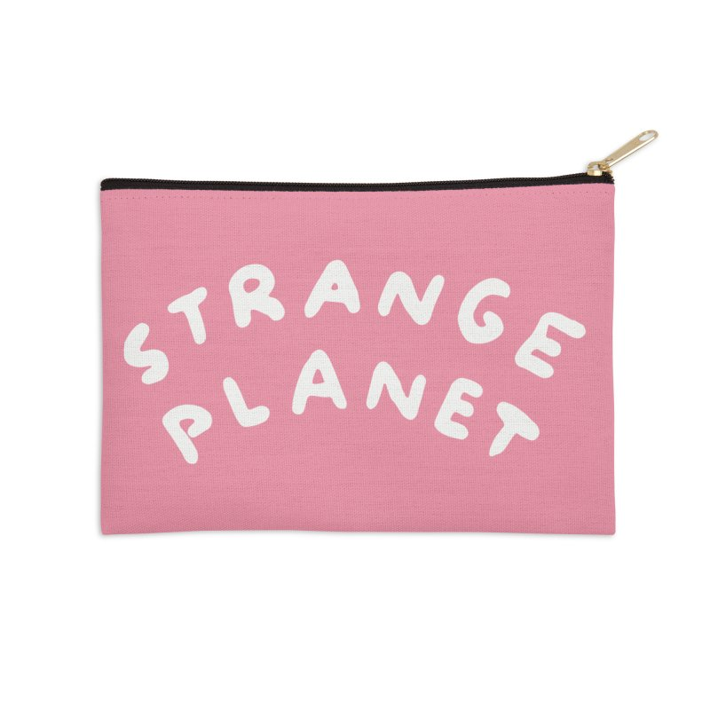 STRANGE PLANET: LOGO Accessories Zip Pouch by Nathan W Pyle