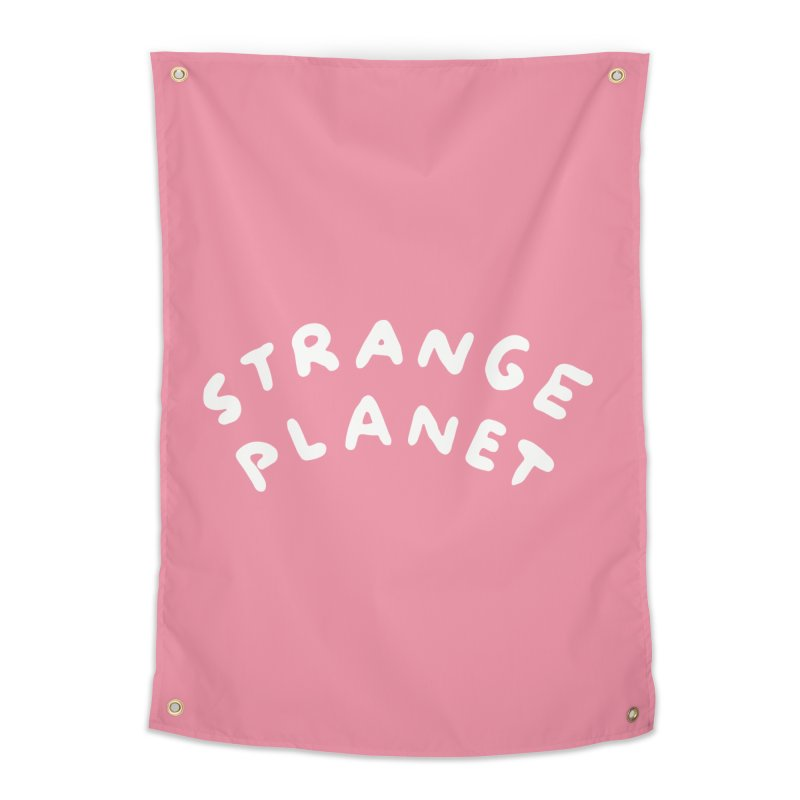 STRANGE PLANET: LOGO Home Tapestry by Nathan W Pyle