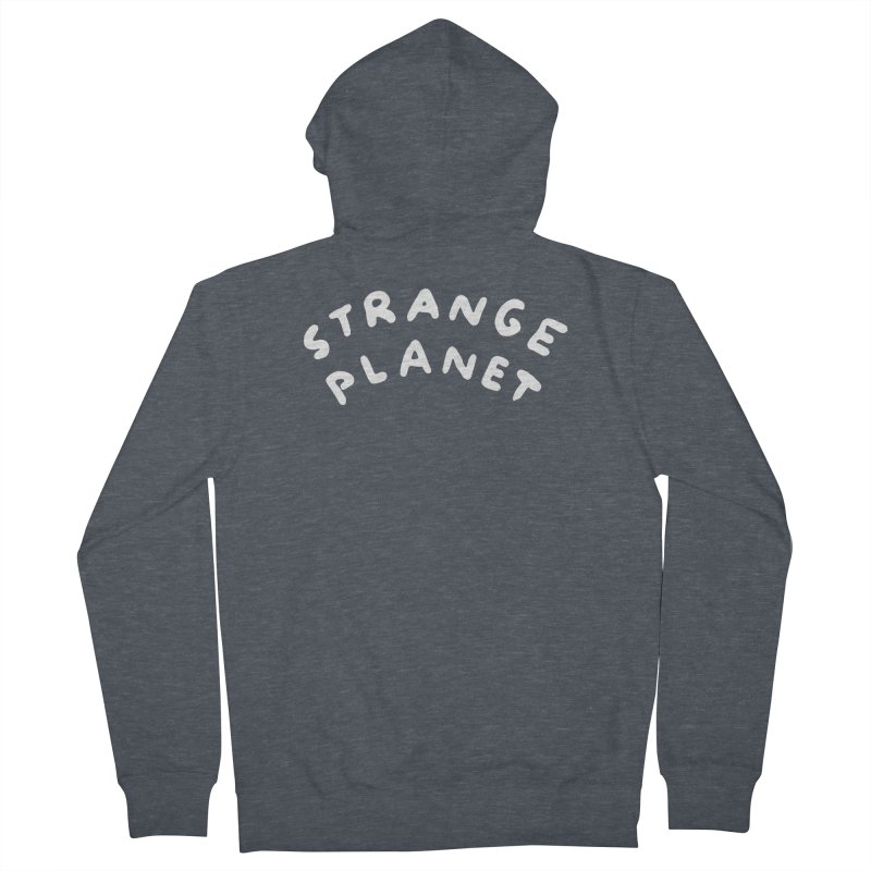 STRANGE PLANET: LOGO Women's French Terry Zip-Up Hoody by Nathan W Pyle