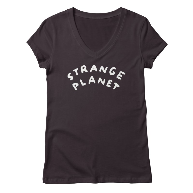 STRANGE PLANET: LOGO Women's Regular V-Neck by Nathan W Pyle