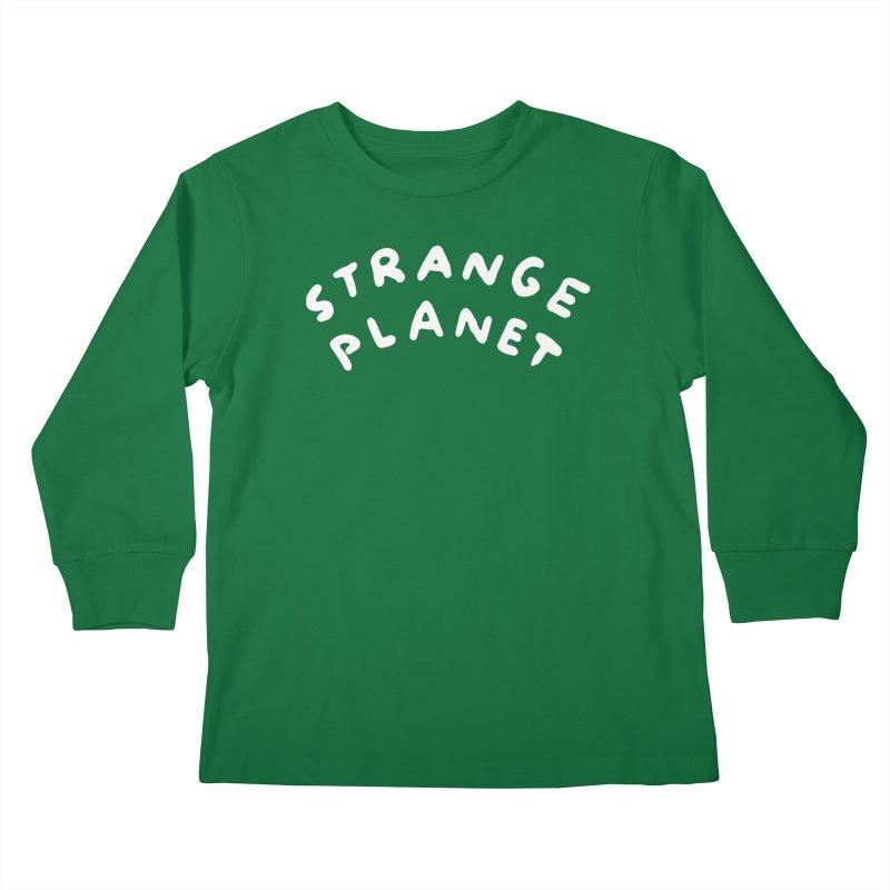 STRANGE PLANET: LOGO Kids Longsleeve T-Shirt by Nathan W Pyle