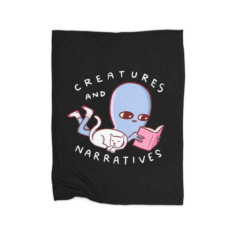 STRANGE PLANET SPECIAL PRODUCT: CREATURES AND NARRATIVES Home Fleece Blanket Blanket by Nathan W Pyle
