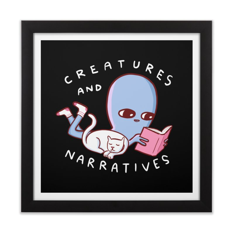 STRANGE PLANET SPECIAL PRODUCT: CREATURES AND NARRATIVES Home Framed Fine Art Print by Nathan W Pyle