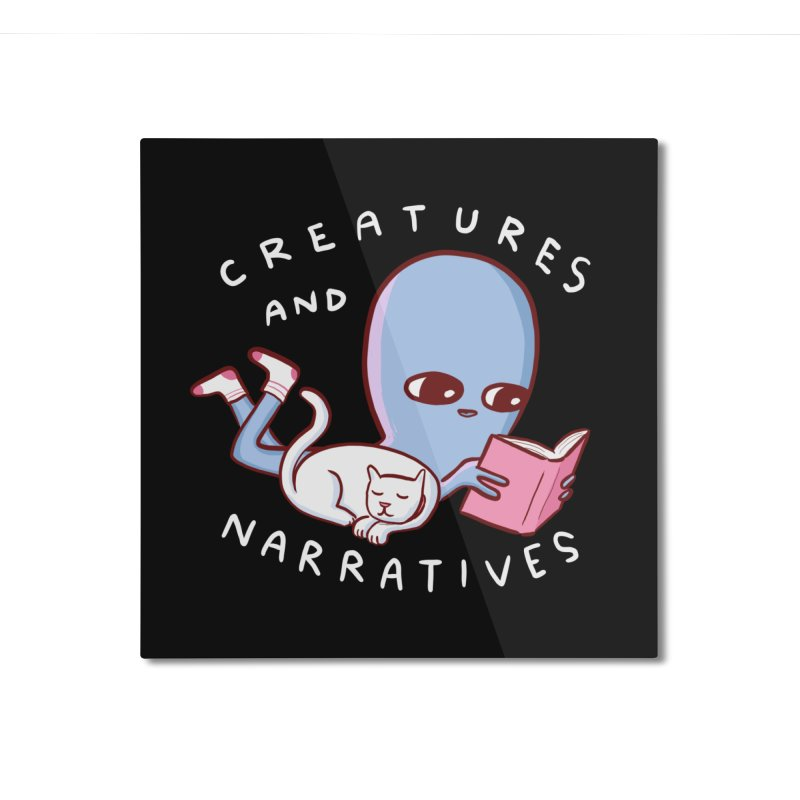 STRANGE PLANET SPECIAL PRODUCT: CREATURES AND NARRATIVES Home Mounted Aluminum Print by Nathan W Pyle