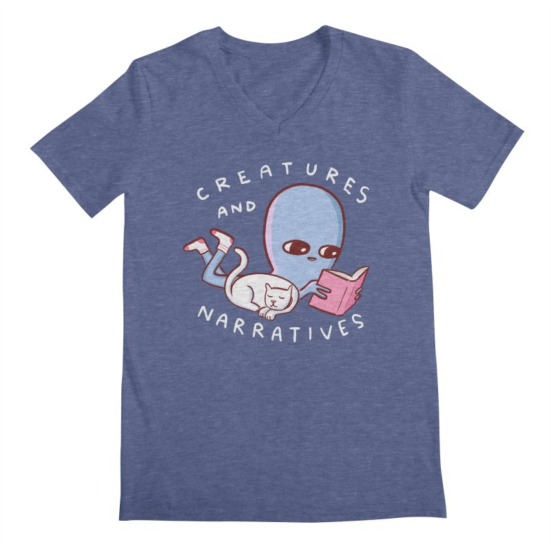 STRANGE PLANET SPECIAL PRODUCT: CREATURES AND NARRATIVES Men's Regular V-Neck by Nathan W Pyle