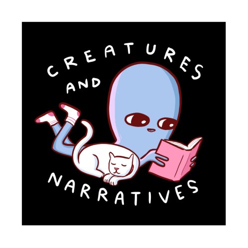 Design for STRANGE PLANET STICKER AND MAGNET: CREATURES AND NARRATIVES