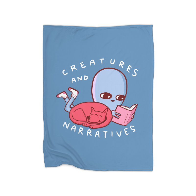 STRANGE PLANET SPECIAL PRODUCT: CREATURES AND NARRATIVE (MORAL CREATURE EDITION) Home Fleece Blanket Blanket by Nathan W Pyle