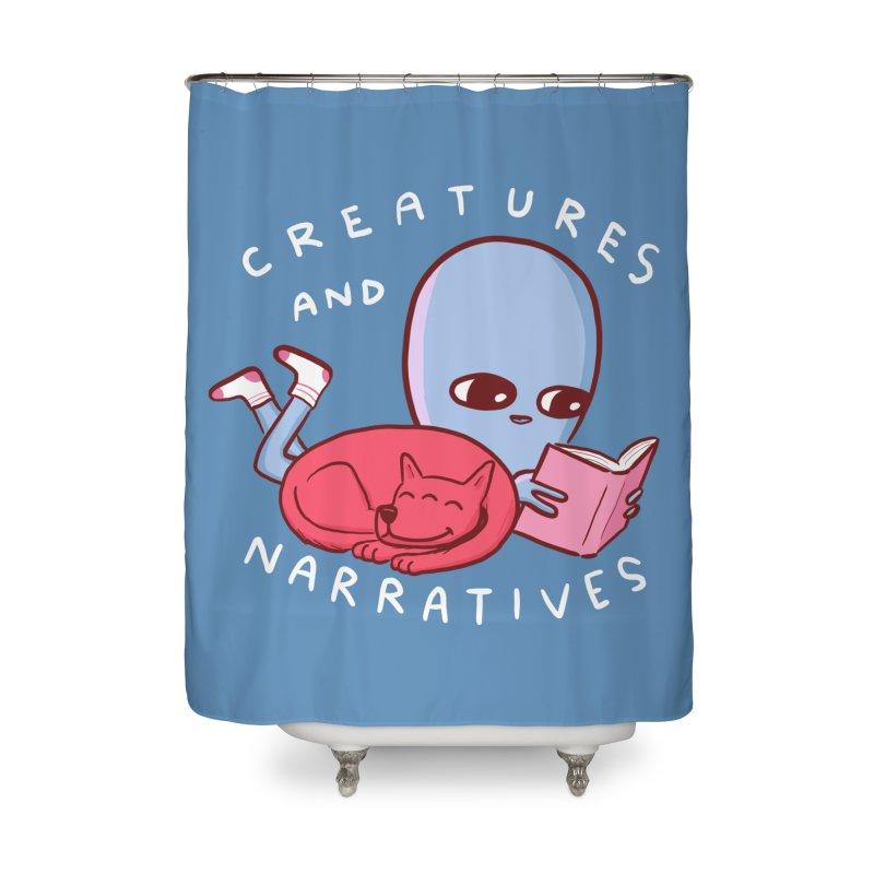 STRANGE PLANET SPECIAL PRODUCT: CREATURES AND NARRATIVE (MORAL CREATURE EDITION) Home Shower Curtain by Nathan W Pyle