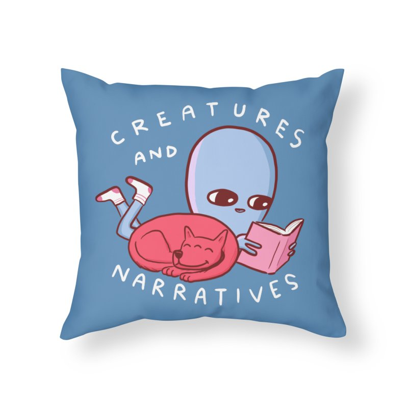 STRANGE PLANET SPECIAL PRODUCT: CREATURES AND NARRATIVE (MORAL CREATURE EDITION) Home Throw Pillow by Nathan W Pyle