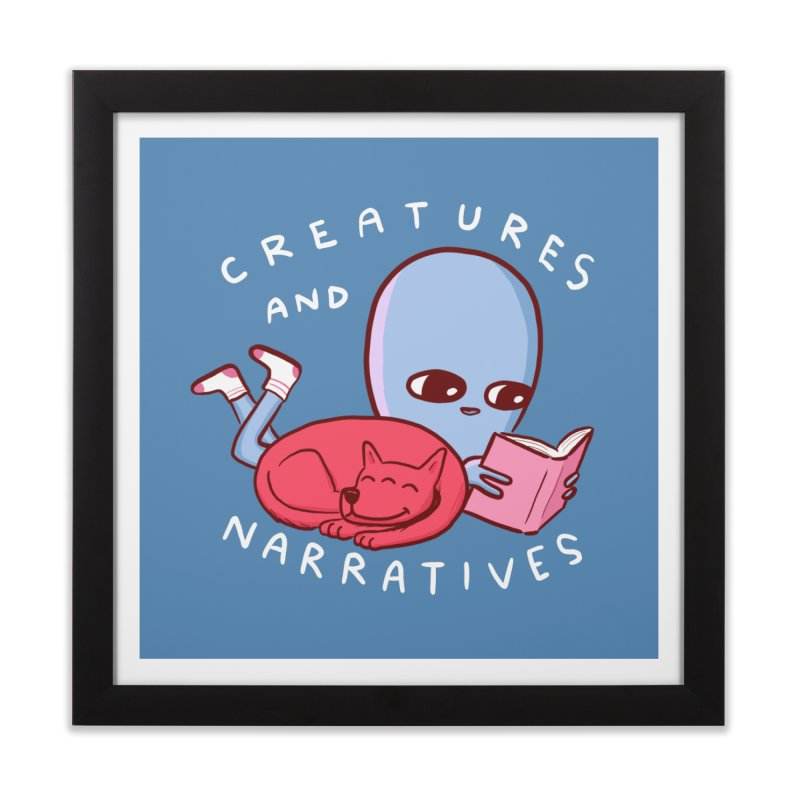 STRANGE PLANET SPECIAL PRODUCT: CREATURES AND NARRATIVE (MORAL CREATURE EDITION) Home Framed Fine Art Print by Nathan W Pyle