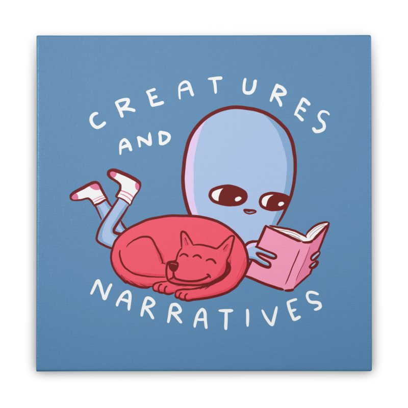 STRANGE PLANET SPECIAL PRODUCT: CREATURES AND NARRATIVE (MORAL CREATURE EDITION) Home Stretched Canvas by Nathan W Pyle