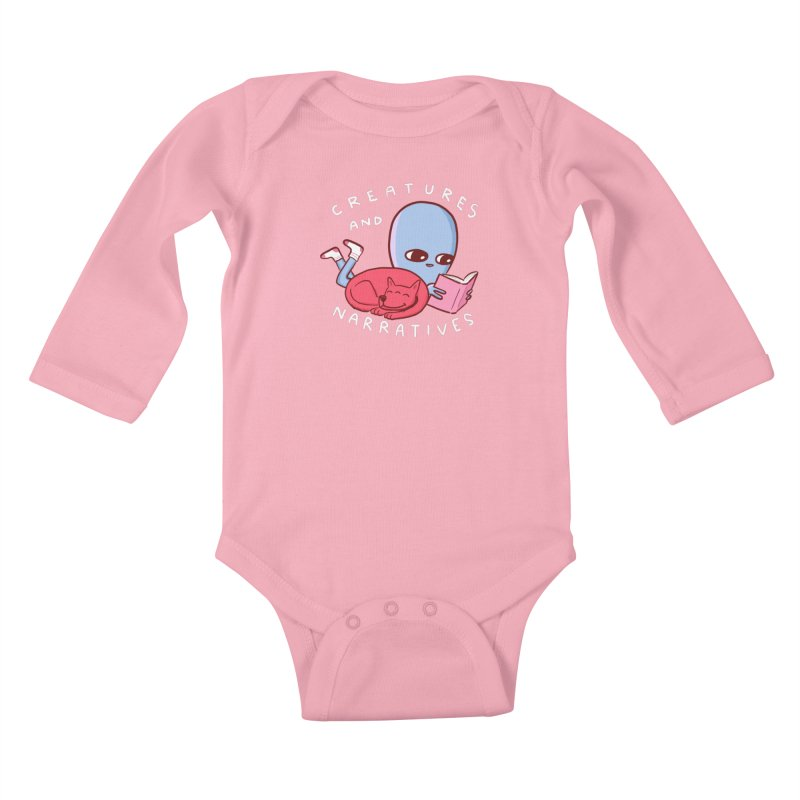 STRANGE PLANET SPECIAL PRODUCT: CREATURES AND NARRATIVE (MORAL CREATURE EDITION) Kids Baby Longsleeve Bodysuit by Nathan W Pyle
