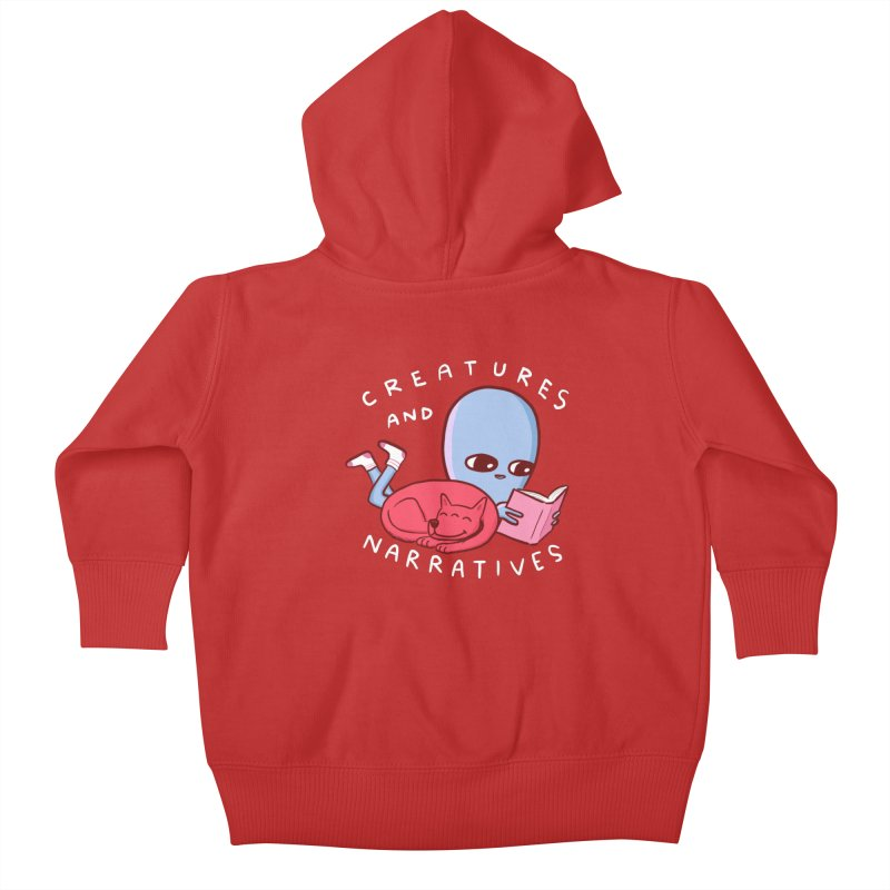 STRANGE PLANET SPECIAL PRODUCT: CREATURES AND NARRATIVE (MORAL CREATURE EDITION) Kids Baby Zip-Up Hoody by Nathan W Pyle