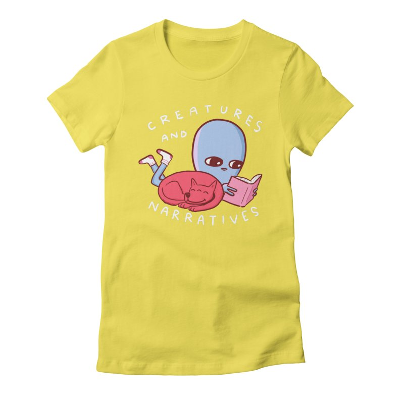 STRANGE PLANET SPECIAL PRODUCT: CREATURES AND NARRATIVE (MORAL CREATURE EDITION) Women's Fitted T-Shirt by Nathan W Pyle