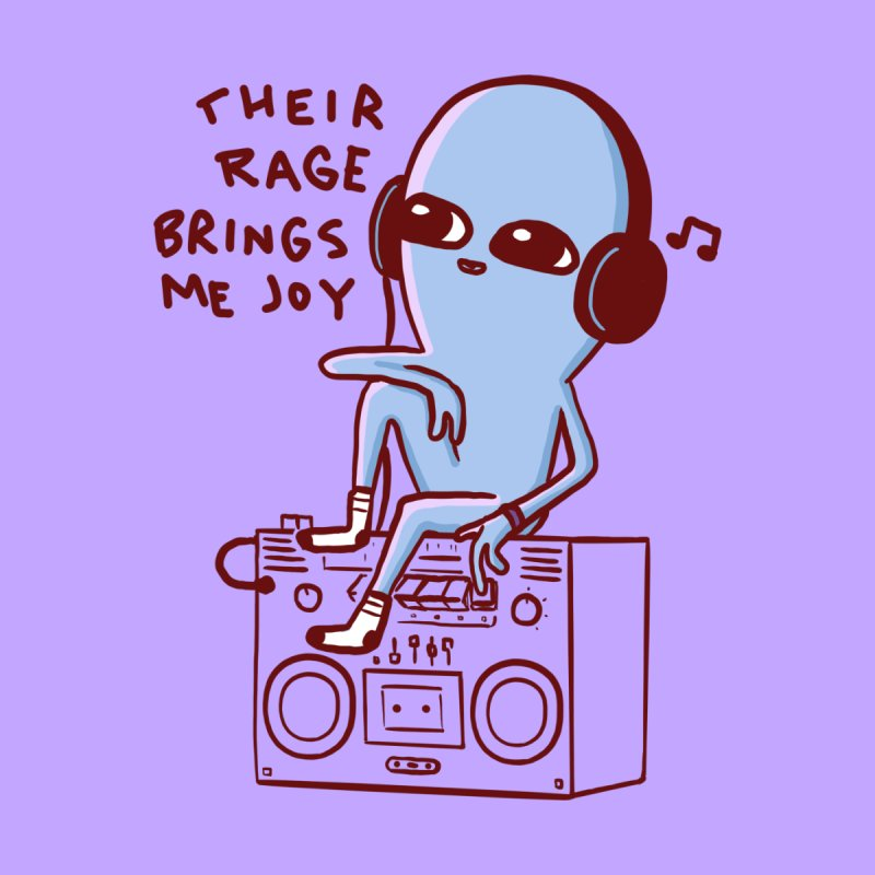STRANGE PLANET SPECIAL PRODUCT: THEIR RAGE BRINGS ME JOY Accessories Magnet by Nathan W Pyle
