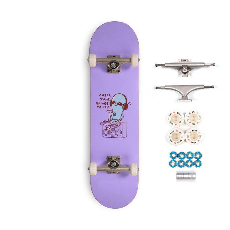 STRANGER PLANET SPECIAL PRODUCT: THEIR RAGE BRINGS ME JOY Accessories Complete - Premium Skateboard by Nathan W Pyle