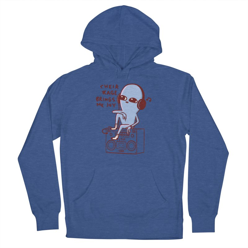 STRANGER PLANET SPECIAL PRODUCT: THEIR RAGE BRINGS ME JOY Men's French Terry Pullover Hoody by Nathan W Pyle