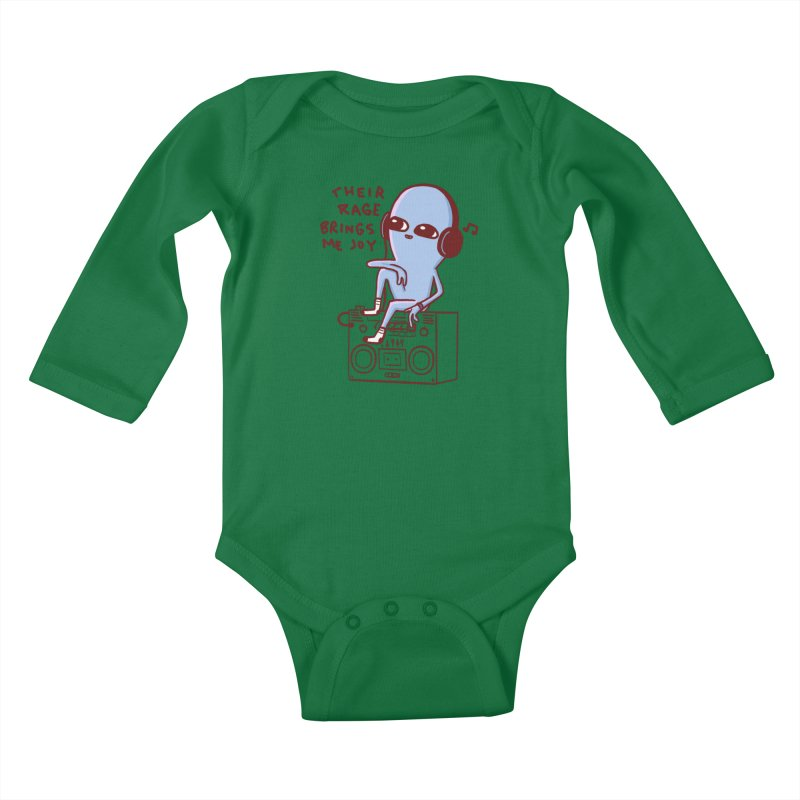 STRANGER PLANET SPECIAL PRODUCT: THEIR RAGE BRINGS ME JOY Kids Baby Longsleeve Bodysuit by Nathan W Pyle