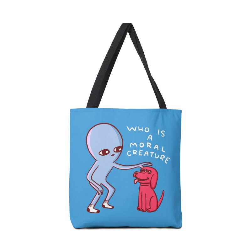 STRANGE PLANET SPECIAL PRODUCT: MORAL CREATURE Accessories Tote Bag Bag by Nathan W Pyle