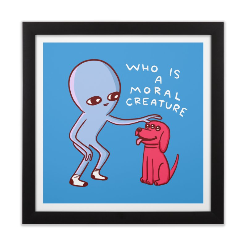 STRANGE PLANET SPECIAL PRODUCT: MORAL CREATURE Home Framed Fine Art Print by Nathan W Pyle