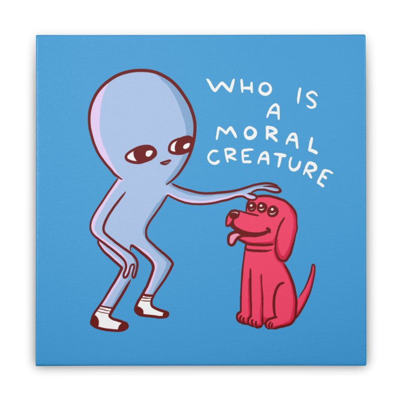 STRANGE PLANET SPECIAL PRODUCT: MORAL CREATURE Home Stretched Canvas by Nathan W Pyle