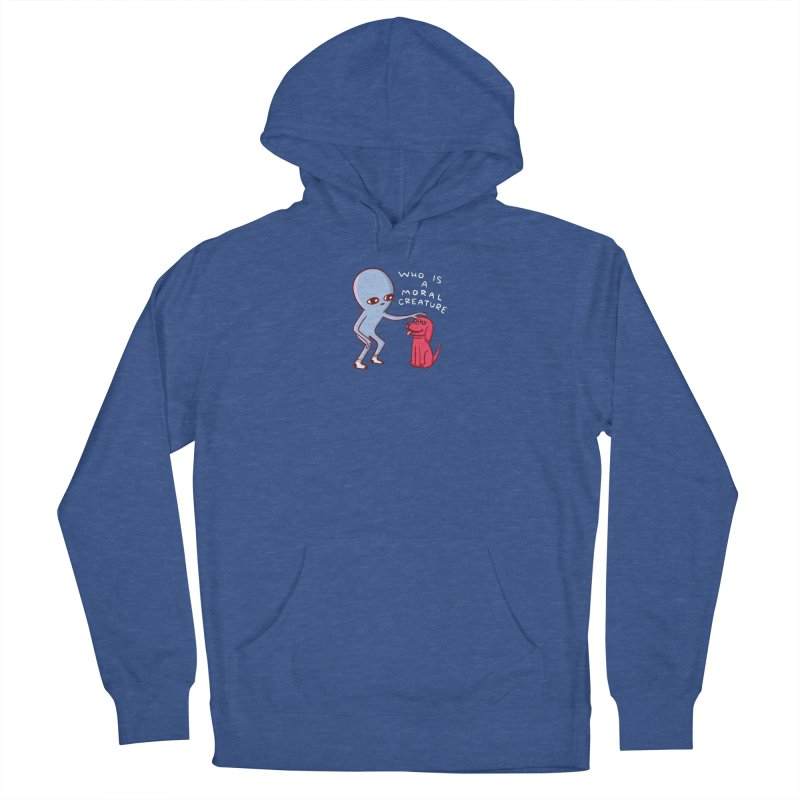 STRANGE PLANET SPECIAL PRODUCT: MORAL CREATURE Men's French Terry Pullover Hoody by Nathan W Pyle