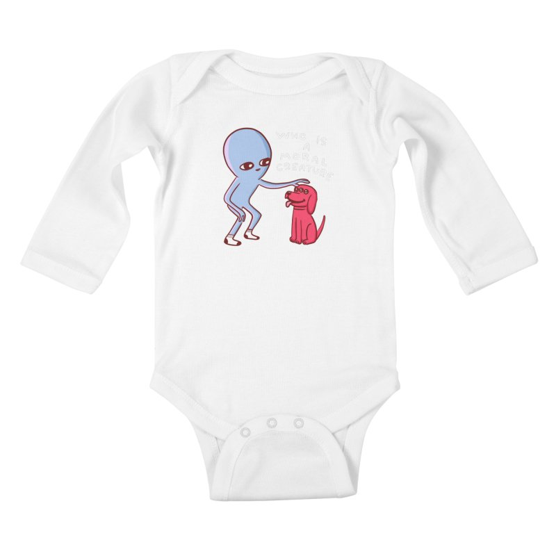STRANGE PLANET SPECIAL PRODUCT: MORAL CREATURE Kids Baby Longsleeve Bodysuit by Nathan W Pyle