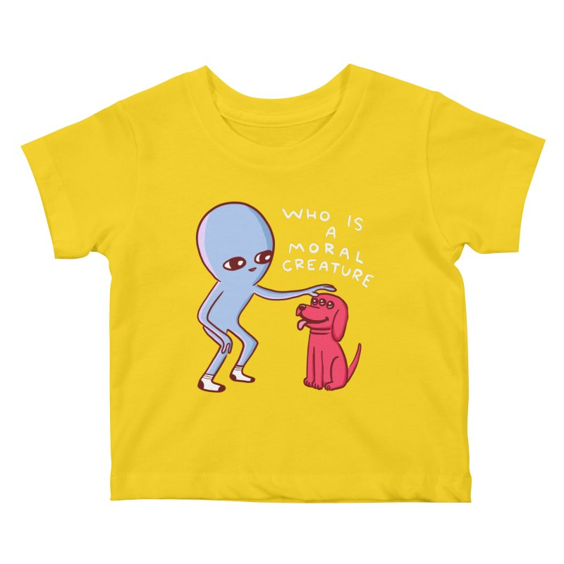 STRANGE PLANET SPECIAL PRODUCT: MORAL CREATURE Kids Baby T-Shirt by Nathan W Pyle